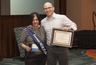 Dr. Stephen Goutman, University of Michigan, was awarded the Basic Science Poster Award