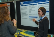 Ximena Arcila-Londono, MD, Henry Ford Health System answers questions during the annual poster session
