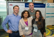 The NeuroBANK team at the annual meeting poster session