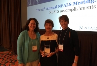 Congratulations to Pat Andres who received the first ever NEALS Lifetime Achievement Award! Pictured from left to right: Merit Cudkowicz, Pat Andres and Peggy Allred